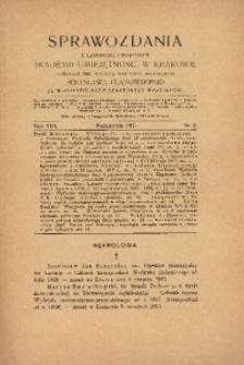 Sprawozdania z Czynności i Posiedzeń Akademii Umiejętności w Krakowie, 1917, T. 22, Nr 8