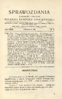Sprawozdania z Czynności i Posiedzeń Polskiej Akademii Umiejętności, 1928, T. 33, Nr 8