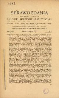 Sprawozdania z Czynności i Posiedzeń Polskiej Akademii Umiejętności, 1945, T. 46, Nr 7