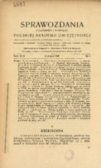 Sprawozdania z Czynności i Posiedzeń Polskiej Akademii Umiejętności, 1945, T. 46, Nr 9