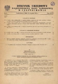 Dziennik Urzędowy Wojewódzkiej Rady Narodowej w Częstochowie, 1981, Nr 2