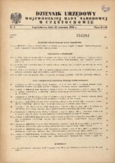 Dziennik Urzędowy Wojewódzkiej Rady Narodowej w Częstochowie, 1982, Nr 2