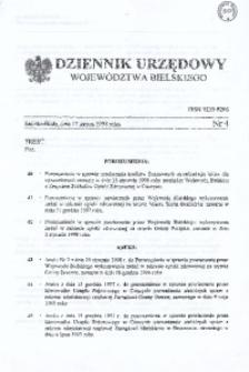Dziennik Urzędowy Województwa Bielskiego, 1998, Nr 4