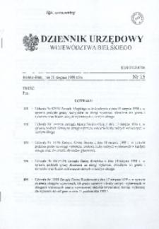 Dziennik Urzędowy Województwa Bielskiego, 1998, Nr 15