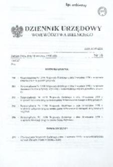 Dziennik Urzędowy Województwa Bielskiego, 1998, Nr 16