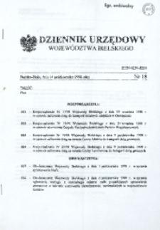 Dziennik Urzędowy Województwa Bielskiego, 1998, Nr 18