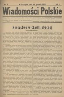 Wiadomości Polskie, 1915, R. 1, nr 4