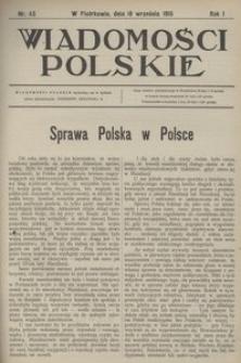 Wiadomości Polskie, 1915, R. 1, nr 45