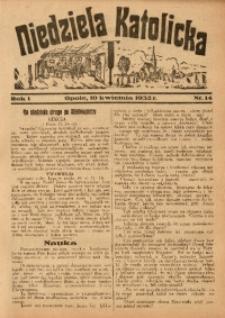 Niedziela Katolicka, 1932, R. 1, nr 14
