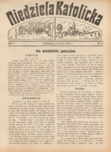 Niedziela Katolicka, 1934, R. 3, nr 11
