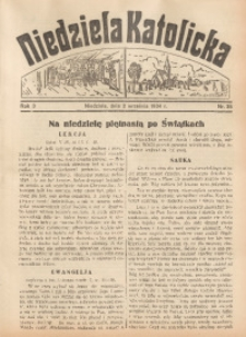 Niedziela Katolicka, 1934, R. 3, nr 35