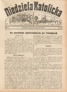 Niedziela Katolicka, 1934, R. 3, nr 39
