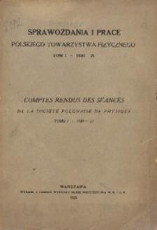 T. 1 (1920/1921)