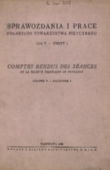 Sprawozdania i Prace Polskiego Towarzystwa Fizycznego, T. 5, Zeszyt 2