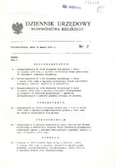 Dziennik Urzędowy Województwa Bielskiego, 1994, Nr 2