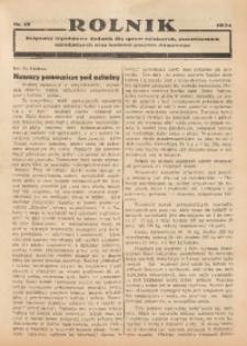 Rolnik, 1934, [R. 32], nr 19
