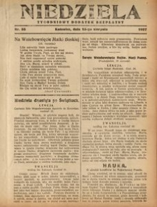 Niedziela, 1927, Nr. 33