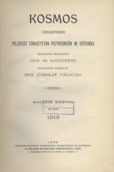 Kosmos, 1913, R. 38, Treść rocznika