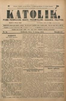 Katolik, 1882, R. 15, nr 10