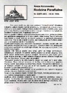 Nasza Kolonowska Rodzina Parafialna 1995, nr 22 (87).