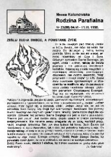 Nasza Kolonowska Rodzina Parafialna 1995, nr 23 (88).