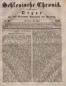 Schlesische Chronik, 1840, Jg. 5, No. 31