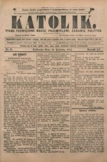 Katolik, 1882, R. 15, nr 31