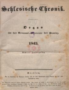 Inhalts-Verzeichniss der Schlesischen Chronik im Jahre 1843