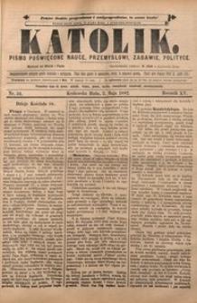 Katolik, 1882, R. 15, nr 34