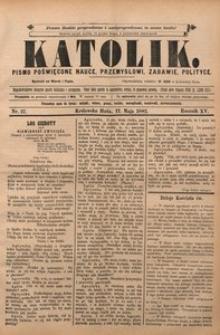 Katolik, 1882, R. 15, nr 37