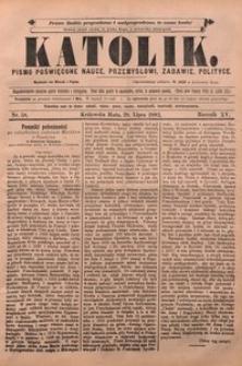 Katolik, 1882, R. 15, nr 58