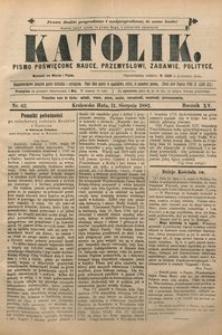Katolik, 1882, R. 15, nr 62
