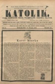 Katolik, 1882, R. 15, nr 64