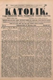 Katolik, 1882, R. 15, nr 71