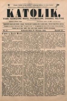 Katolik, 1882, R. 15, nr 73