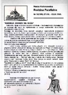 Nasza Kolonowska Rodzina Parafialna 1995, nr 35 (100).