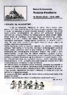 Nasza Kolonowska Rodzina Parafialna 1995, nr 36 (101).
