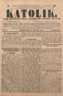 Katolik, 1882, R. 15, nr 74