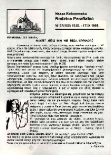 Nasza Kolonowska Rodzina Parafialna 1995, nr 37 (102).