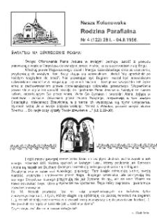 Nasza Kolonowska Rodzina Parafialna 1996, nr 4 (122).