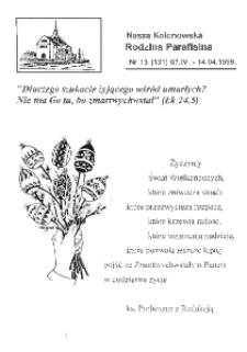 Nasza Kolonowska Rodzina Parafialna 1996, nr 13 (131).