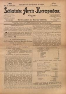 Schlesische Aerzte-Korrespondenz, 1902/1903, Jg. 6, No 6