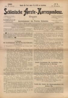Schlesische Aerzte-Korrespondenz, 1902/1903, Jg. 6, No 8