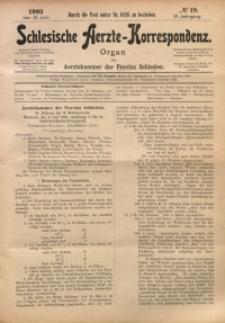 Schlesische Aerzte-Korrespondenz, 1902/1903, Jg. 6, No 19