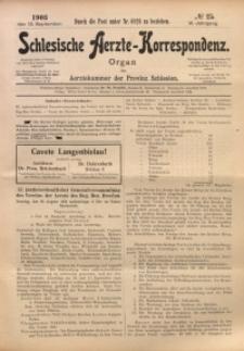 Schlesische Aerzte-Korrespondenz, 1902/1903, Jg. 6, No 25