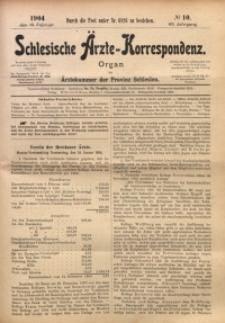 Schlesische Ärzte-Korrespondenz, 1903/1904, Jg. 7, No 10