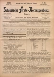 Schlesische Ärzte-Korrespondenz, 1903/1904, Jg. 7, No 20