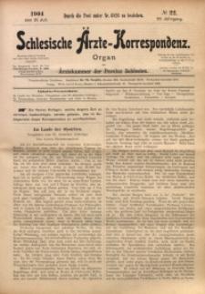 Schlesische Ärzte-Korrespondenz, 1903/1904, Jg. 7, No 22