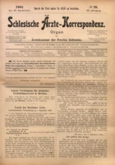 Schlesische Ärzte-Korrespondenz, 1903/1904, Jg. 7, No 26