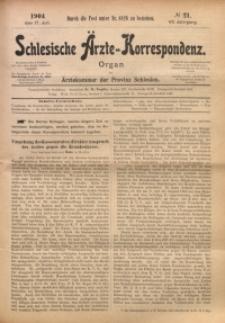 Schlesische Ärzte-Korrespondenz, 1903/1904, Jg. 7, No 21